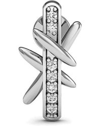 Diamoire Jewels - Diamond Pave Earrings In Fine Polished 14kt White Gold - Lyst