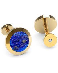 MARCELLO RICCIO - Rose Gold Plated Silver, Lapis Lazuli & Diamond Cufflinks - Lyst
