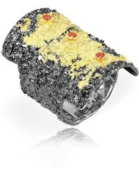 Apostolos Jewellery - Crevise1 Oxidised Silver Ring - Lyst