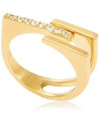 Neola Alessia Gold Cocktail Ring - UK P - US 7 1/2 - EU 56 1/2 j7PrW