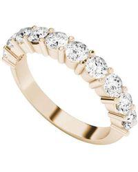 StyleRocks - Diamond Eternity Ring 9kt Rose Gold - Lyst