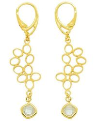 Purnell - Gold Nectar Drop Earrings - Lyst