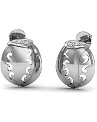 Diamoire Jewels - 18kt White Gold And Premium Diamonds Pave Earrings - Lyst