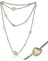 """Lika Behar Collection - Gold And Oxidised Silver """"katya"""" Necklace - Lyst"""
