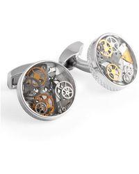 Tateossian - Sterling Silver Industrial Gear Cufflinks - Lyst