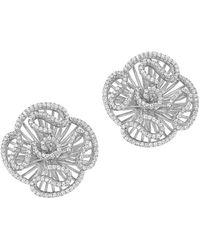 Fei Liu - Cascade Stud Earrings In White Rhodium Plate - Lyst