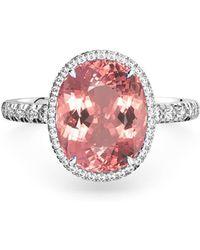 MARCELLO RICCIO - 18kt Gold, Diamond & Padparadscha Sapphire Ring - Lyst