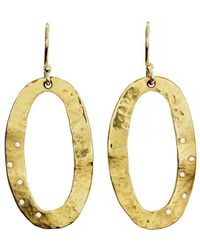 freeRange JEWELS - Oval Diamond Hammered Disc Earrings - Lyst
