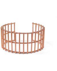 Cara Tonkin - Theda Stripe Cuff Rose Gold - Lyst