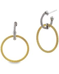 Alor - Classique Earrings Yellow And Grey Circle Drop - Lyst