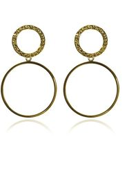 Carao Jewelry - Duet Dangle Earrings Yellow Gold Plated - Lyst