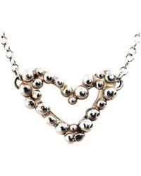 Charlotte Cornelius - Silver Bubble Heart Necklace - Lyst