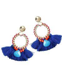 Clare Hynes   Blue And Red Martha Tassel Earrings   Lyst