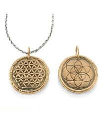 House of Alaia - Flower Of Life-seed Of Life Traveller's Coin Necklace - Lyst