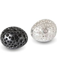 Agneta Bugyte - Patinated Black & Polished White Silver Studs - Lyst