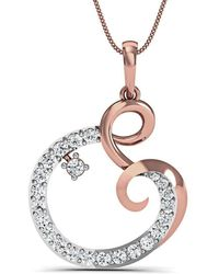 Diamoire Jewels Hand-carved Pendant in 14kt Rose Gold and 33 Premium Diamonds YTyN0