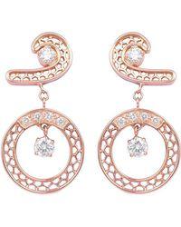 Rosmundo - Le Finestre Earrings In Rose Gold - Lyst