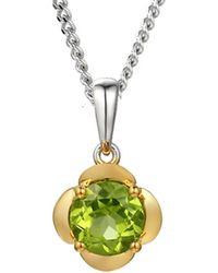 Amore Argento - Yellow Gold Plated Lime Gelato Necklace - Lyst