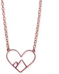 Peak Jewellery - 9kt Rose Gold Love The Mountains Necklace - Lyst