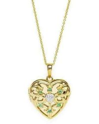 Lily Blanche - Gold Love Locket - Emerald - Lyst