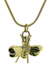 Will Bishop - Gold Bee Necklace - Lyst