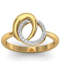 Diamoire Jewels - 18kt Yellow Gold Pave 0.10ct Diamond Infinity Ring - Lyst