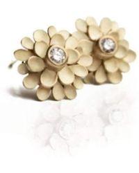 Dagmar Korecki - Dahlia 18kt Yellow Gold And Diamond Earrings - Lyst