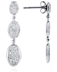 Augustine Jewels - Gold And Diamond Parisian Pavé Earrings - Lyst