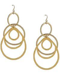 Devon Leigh Hammered Multi-Circle Drop Earrings L2SATfiUJb