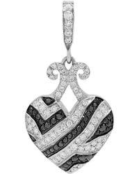 Rhonda Faber Green Designs - Puffy Diamond Animal Print Heart Pendant - Lyst