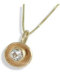 Monica Fiorella Jewelry - 14kt Yellow Gold Sun Concave Pendant - Lyst