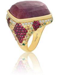 Niquesa Fine Jewellery - Venice Arlecchino Pink Sapphire Ring - Lyst