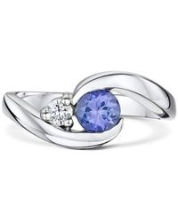 """Becky Rowe - Palladium & Tanzanite """"you Complete Me"""" Engagement Ring 