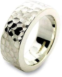 Will Bishop - Textured Sterling Silver Ring - Lyst