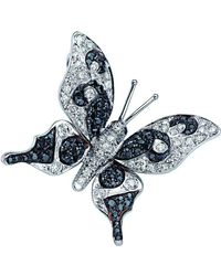 Pinomanna - Natural Chic Butterfly Necklace - White Gold - Lyst