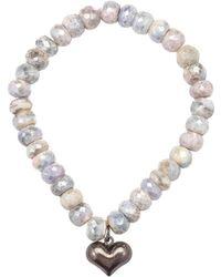 Heather Kenealy Jewelry   Silverite Bracelet With Sterling Silver Heart Charm   Lyst