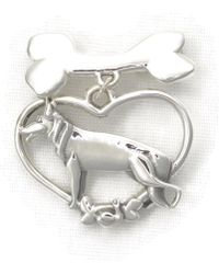 Donna Pizarro Designs - Sterling Silver German Shepherd Brooch - Lyst
