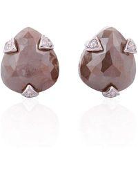 Socheec - Drop Diamond Stud Earrings - Lyst