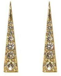 Daou Jewellery - Spark Earrings - Champagne Diamond - Lyst