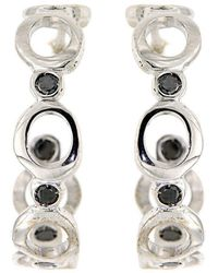 Botta Gioielli - Hoop Black Bubbles Earrings - Lyst