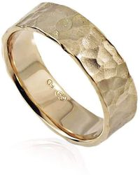 Aimee Sutanto Jewellery - Winter Lake 7mm Yellow Gold Ring - Lyst