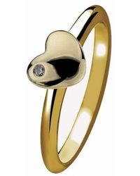 Virtue London - Heart Of Gold Ring - Lyst