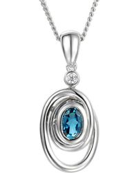 Amore Argento - Rhodium Plated Sterling Silver Wild Spirit Necklace - Lyst