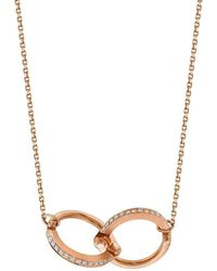 Borgioni - Handcuff Chain Necklace In Rose Gold - Lyst