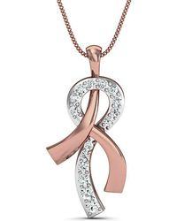 Diamoire Jewels Everlasting Diamond Pavé Pendant in 18Kt Rose Gold 7OQHJT