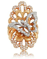 Jooal - Sweet Nectar Yellow Gold And Diamonds Ring - Lyst