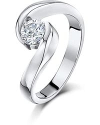Becky Rowe - Palladium & Diamond Engagement Ring | - Lyst