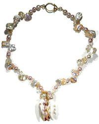 Donna Pizarro Designs - Baroque Freshwater Pearl, Sapphire, Morganite Necklace - Lyst