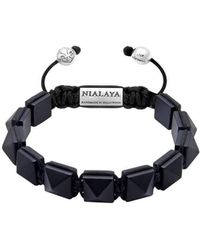 Nialaya - Himalaya Bracelet With Matte Onyx - Lyst
