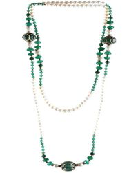 M's Gems by Mamta Valrani | Magnifique Pearl Necklace With Onyx, Diamantes And Beads | Lyst